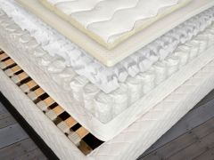 Euro Posturflo Natural Latex Mattress Cut-Away-View Shown with included Flexible Slat Base